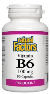 Natural Factors Vitamin B6 100mg, 90 capsules