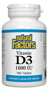 Natural Factors Vitamin D3 1000iu, 90 tabs