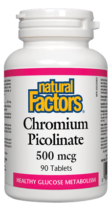 Natural Factors Chromium Picolinate 500mcg, 90 tablets