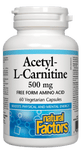 Natural Factors Acetyl L-carnitine 500mg, 60 capsules