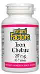 Natural Factors Iron Chelate 25mg, 90 tablets