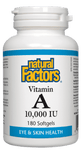 Natural Factors Vitamin A 10,000iu, 90 softgels