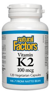Natural Factors Vitamin K2 100mcg, 60 capsules