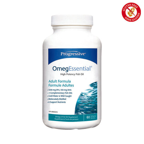 Progressive OmegEssential Adult Fish Oil, 60 capsules