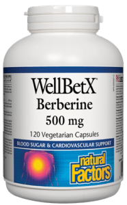 Natural Factors Berberine 500mg, 60 capsules