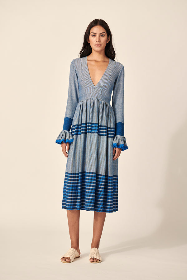 CORA DRESS IN BLUE