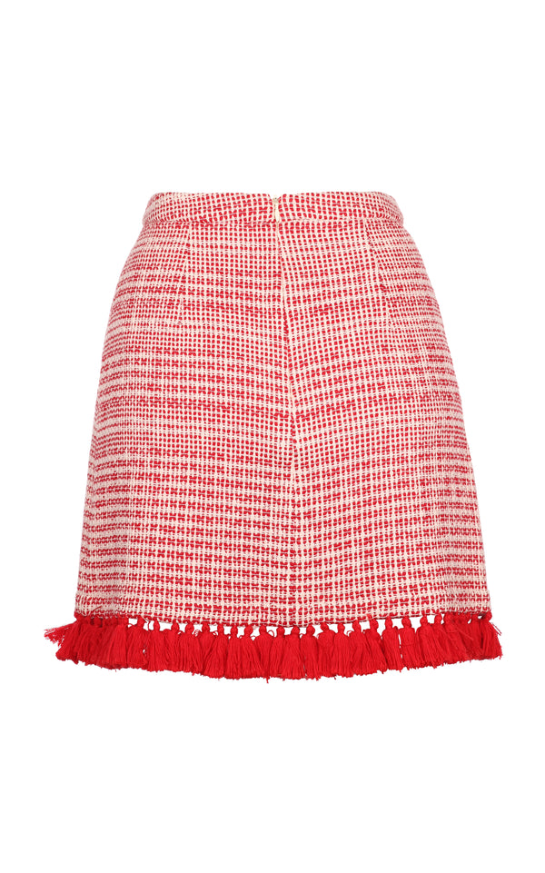 PERSEA MINI SKIRT RED