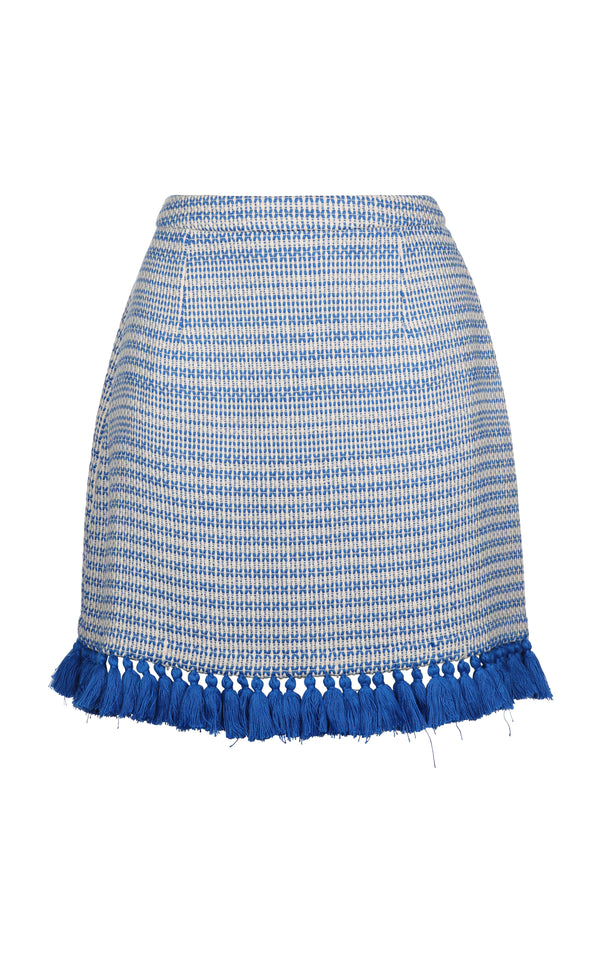 PERSEA MINI SKIRT ELECTRIC BLUE