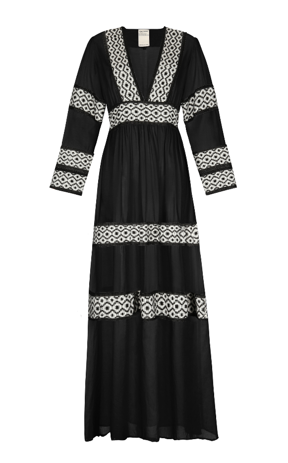 OLI COTTON MAXI DRESS BLACK