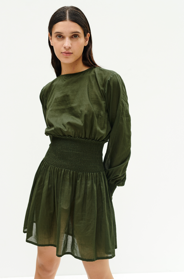 SANTOS COTTON MIDI DRESS
