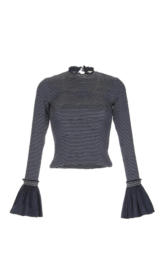 TSUMA HIGH NECK TOP NAVY