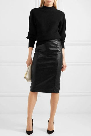 Chunky Knit Pencil Skirt