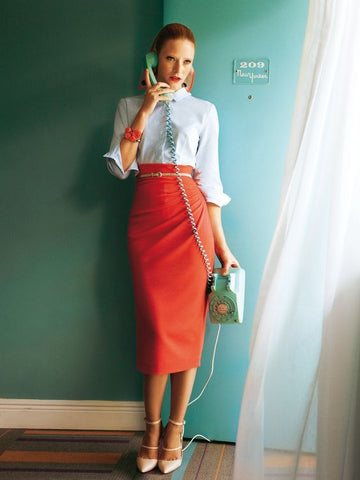 Bright Pencil Skirt