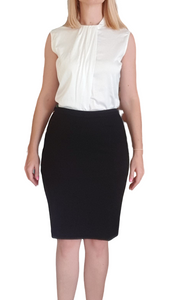 High Waisted Skirt - For Long Torsos (Black)