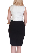 Load image into Gallery viewer, High Waisted Skirt - For Long Torsos (Black)