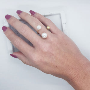 Grace Ring - Pearls with Gold Accents