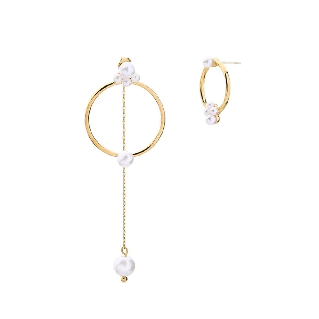 Adeleine Earrings - Pearls with Gold Accents