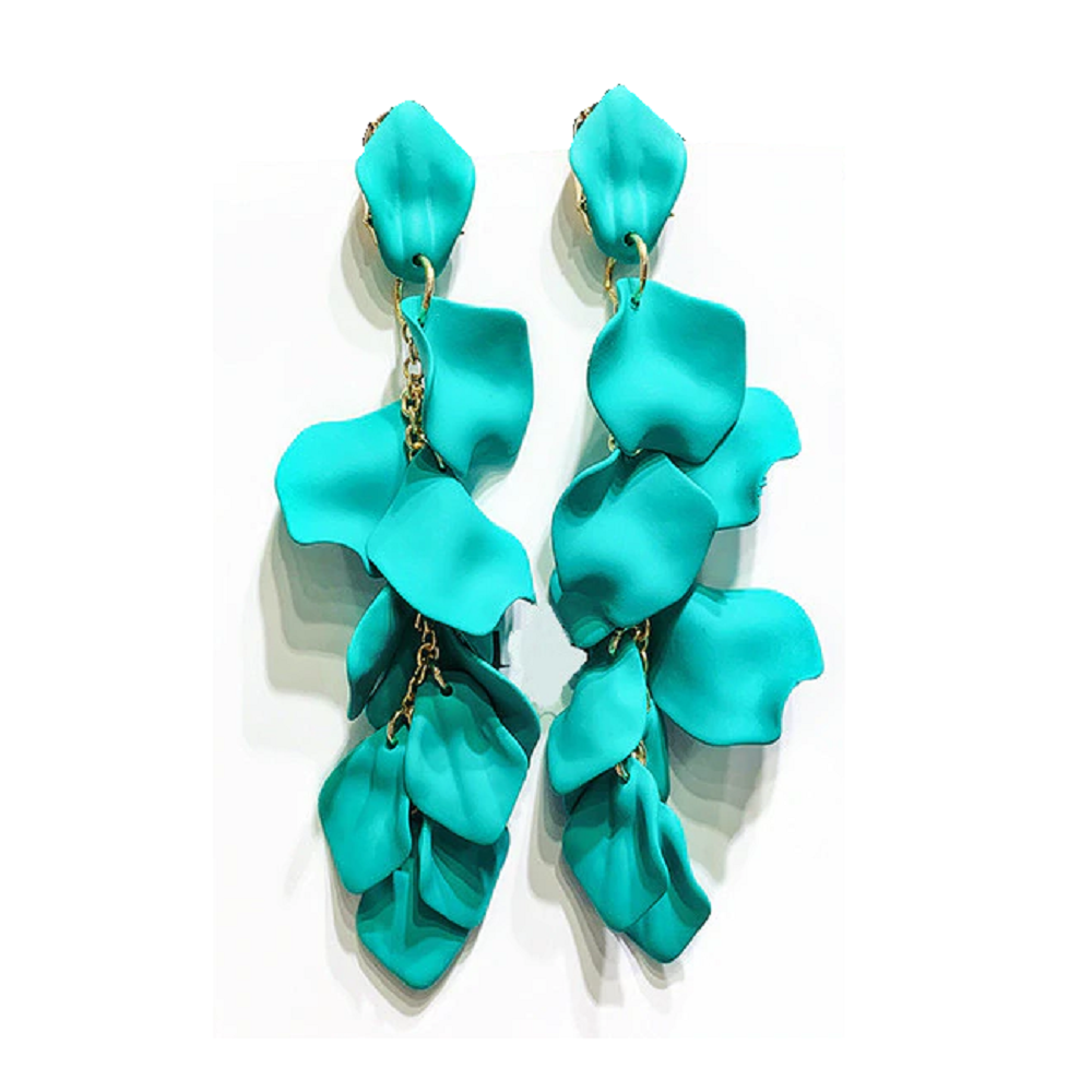 Tolula Earrings - Turquoise Floaty Petal Earrings