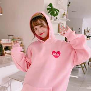 Strawberry Milk Hoddie