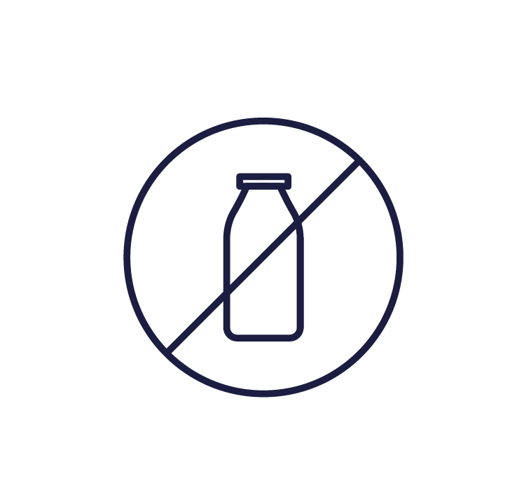 Navy dairy free icon