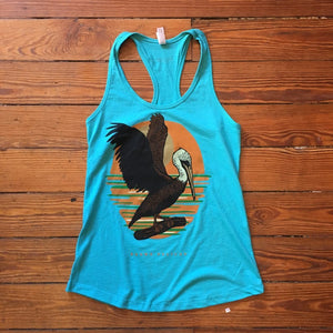 LOVE, LOUISIANA - BROWN PELICAN TANK TOP