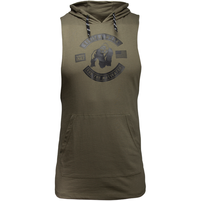 Gorilla Wear - Lawrence Hooded Tank top - Army Green