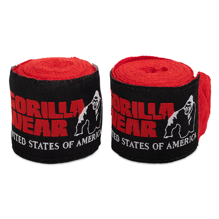 Gorilla Wear - Boxing Hand wraps -  Red