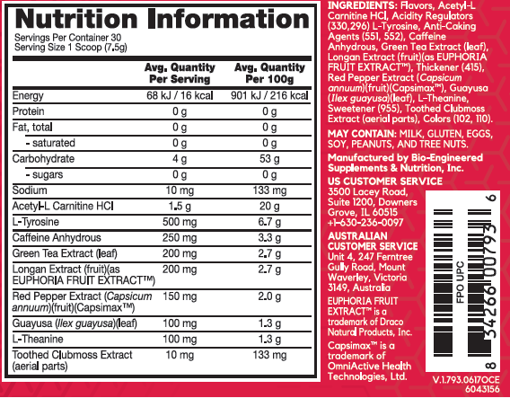 BSN Hypershred Nutrition Facts