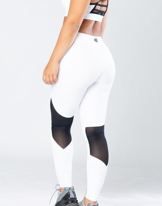 Krate Heaven Mesh white legging back