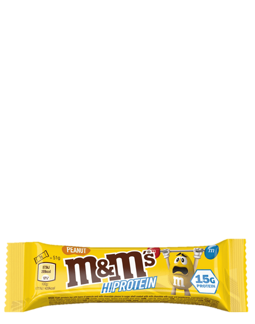 M&M hi protein bar peanut