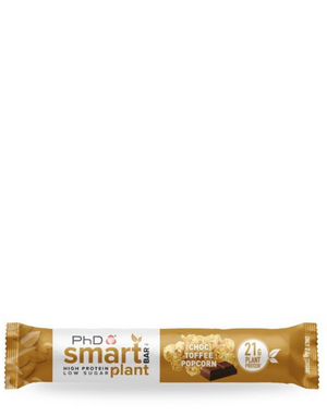 Smart plant protein bar chocolate toffee popcorn