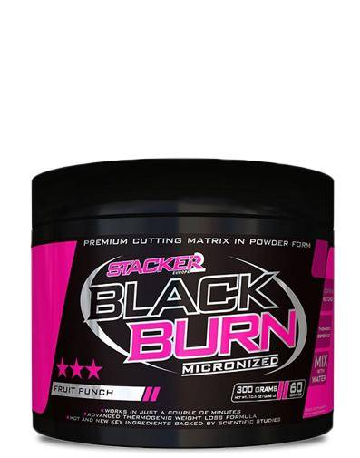 Stacker Black Burn micronized