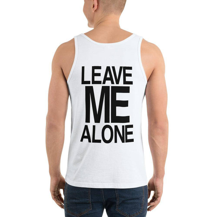 Unisex Jersey Tank Top Leave me alone white