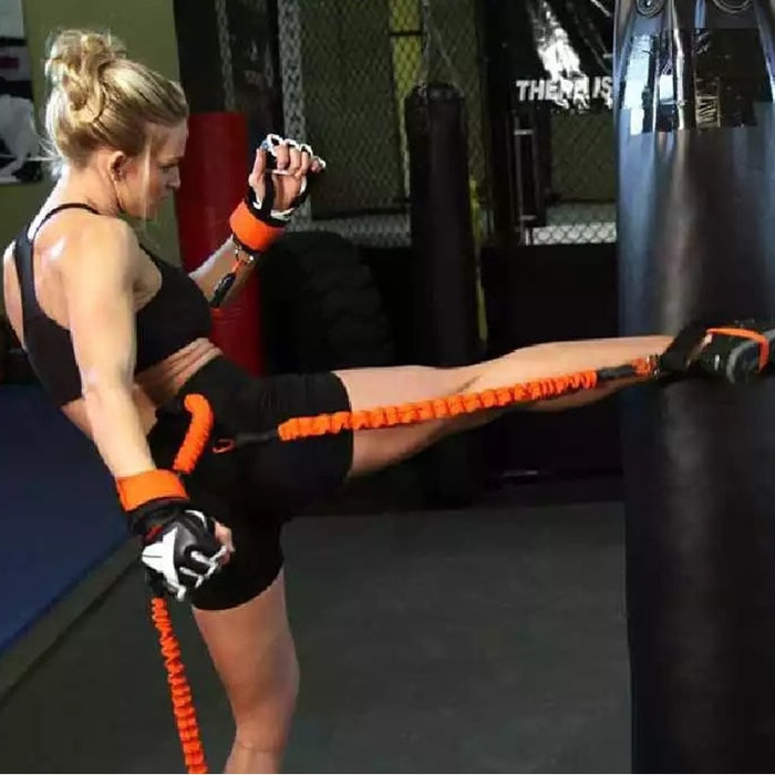 Resistance bands for kickboxing