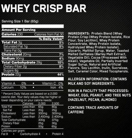Image of Whey Crisp Protein Bar