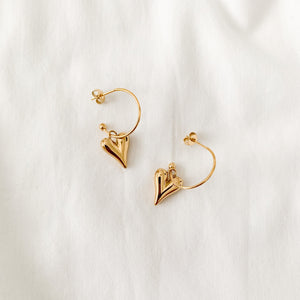 Hart aka Heart Earrings - Namaste Jewelry Canada