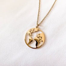 Load image into Gallery viewer, Gold - 'MY WORLD' Necklace - Namaste Jewelry Canada
