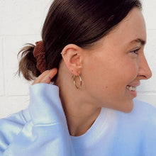 Load image into Gallery viewer, Minimal Gold Hoops - Namaste Jewelry Canada