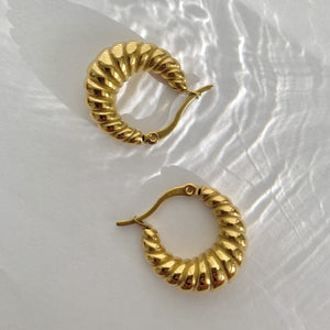 Tori Croissant Hoops - Namaste Jewelry Canada