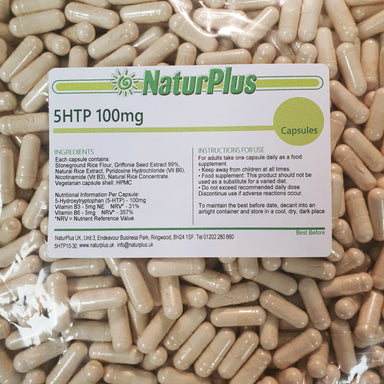 5HTP High Strength 100mg Capsules Enhanced with Vitamins B3 and B6, Natural Ingredients, Vegetarian & Vegan