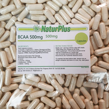 BCAA Branched chain Amino Acid capsules
