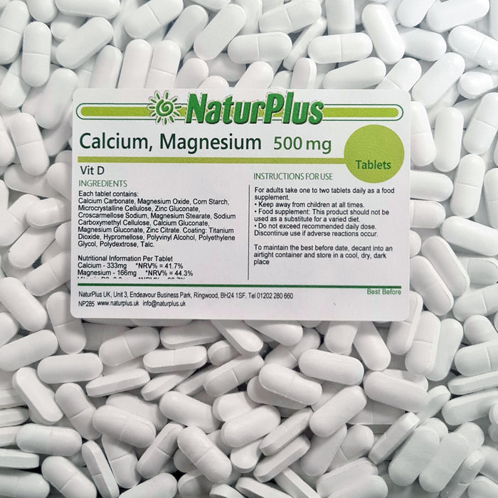 Calcium Magnesium and Vitamin D3 500mg Tablets