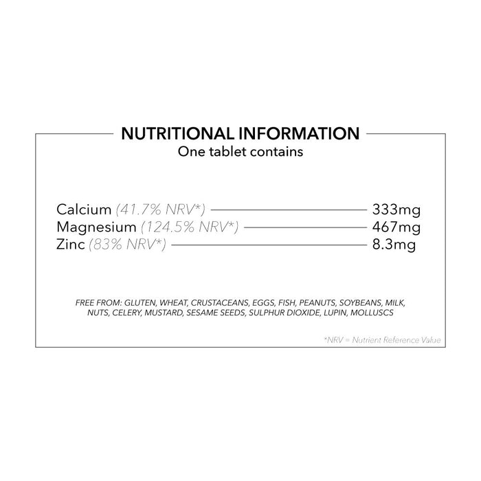 Calcium, Magnesium and Zinc Vegetarian and Vegan tablets