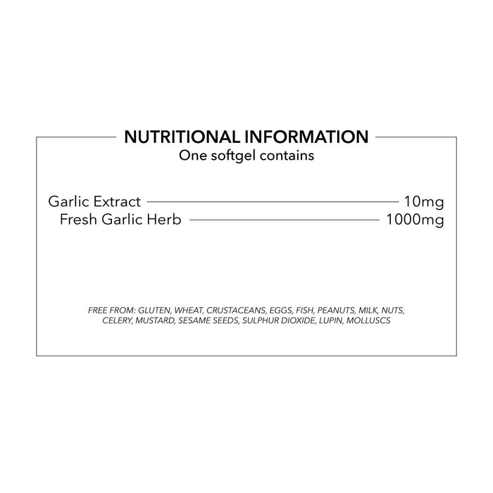 Odourless Garlic Capsules 1000mg High Absorbtion Odourless Garlic Oil in Softgels
