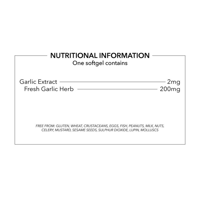 Odourless Garlic Capsules 200mg High Absorption Odourless Garlic Supplements