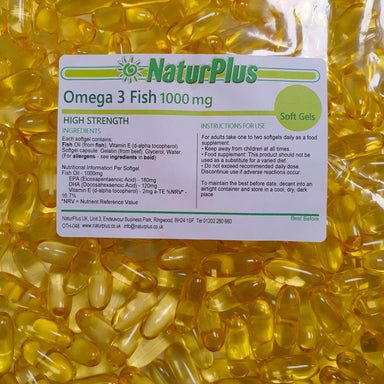 Omega 3 Fish Oil 1000mg Capsules High Strength Omega 3 Fatty Acids DHA and EPA