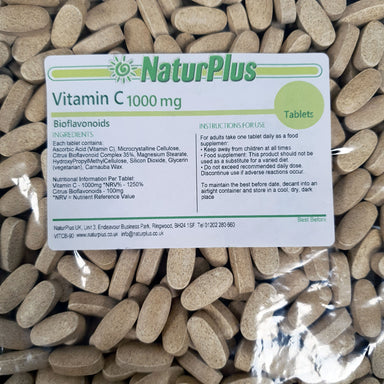 Vitamin C 1000mg Tablets with Bioflavonoids Vegetarian & Vegan Vitamin C Supplement