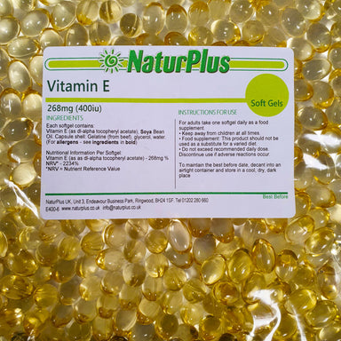 Vitamin E 400iu Capsules, High Absorption Vitamin E Oil in Easy to Swallow Softgels
