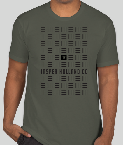 Jasper Holland Co Grid Matrix T-shirt Army Green