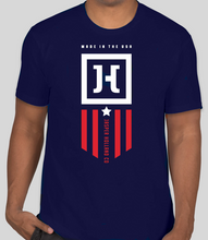 Load image into Gallery viewer, Jasper Holland Co - Patriot Design Mens T-shirt (Navy)